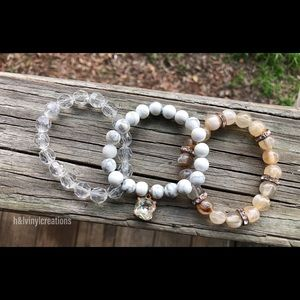 Jewelry - Stacked womens bead bracelets